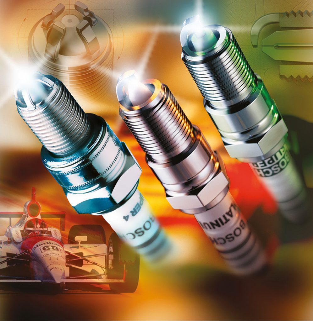 Bosch Spark Plug Digital Illustration